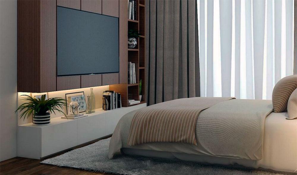 TV in a bedroom